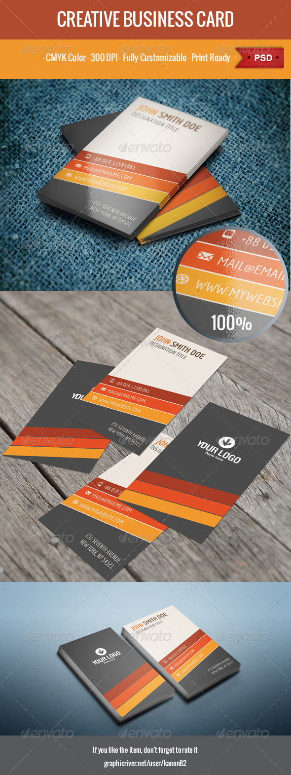 GraphicRiver Vertical Business Card 6006021