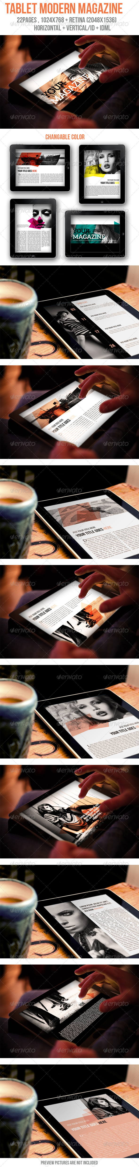 GraphicRiver Tablet Modern Magazine 6006075