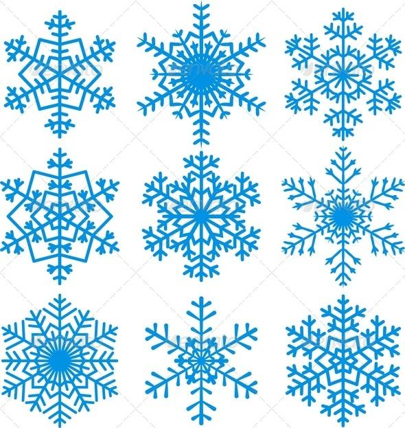 GraphicRiver Snowflakes Set 6006092