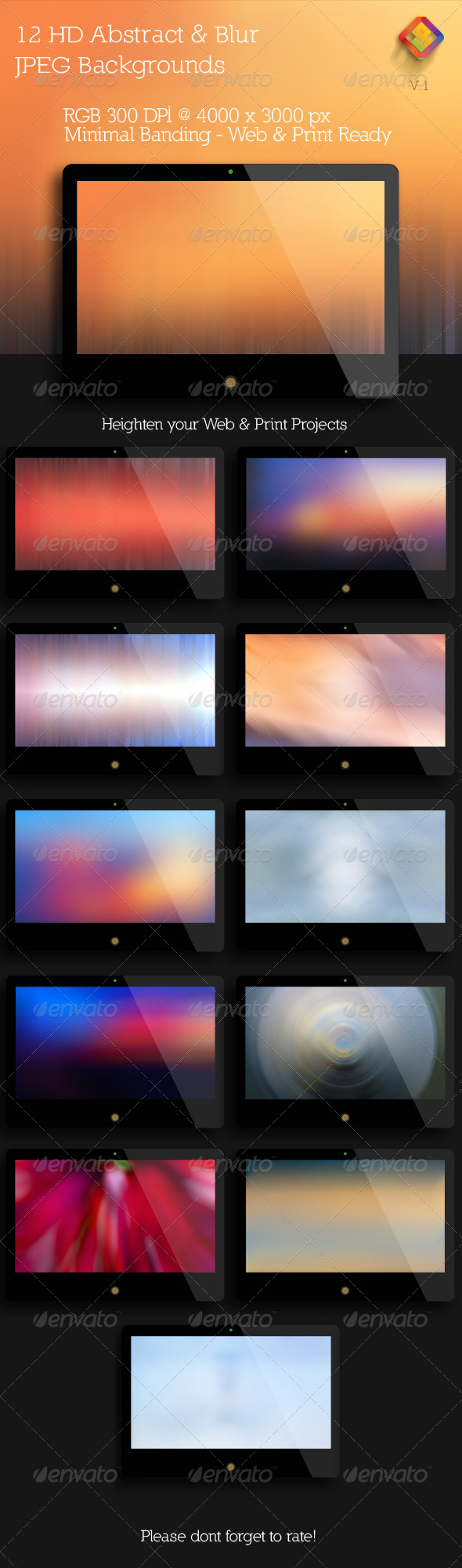 GraphicRiver HD Abstract and Blur Backgrounds V.1 5990240