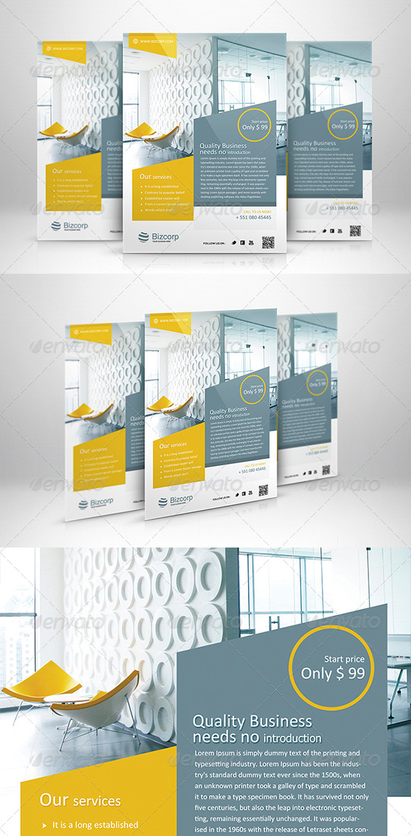 GraphicRiver Corporate Flyer Template 001 5987598