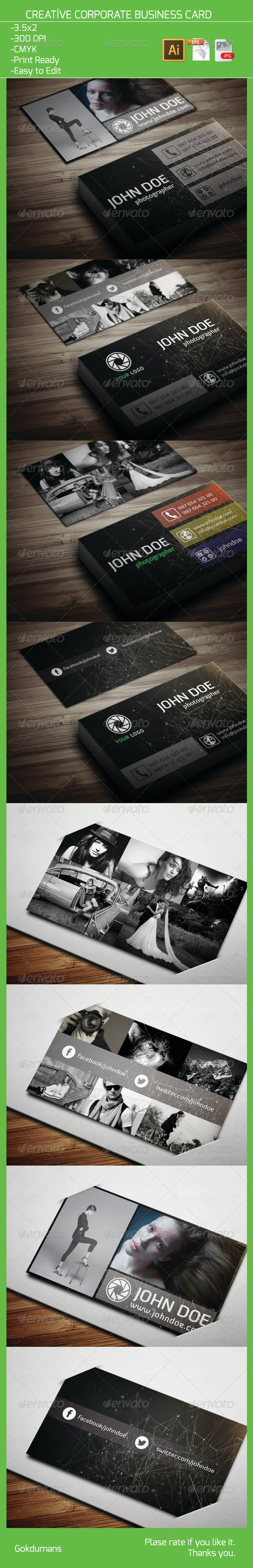 GraphicRiver Creative Corporate Business Card 12 5986933