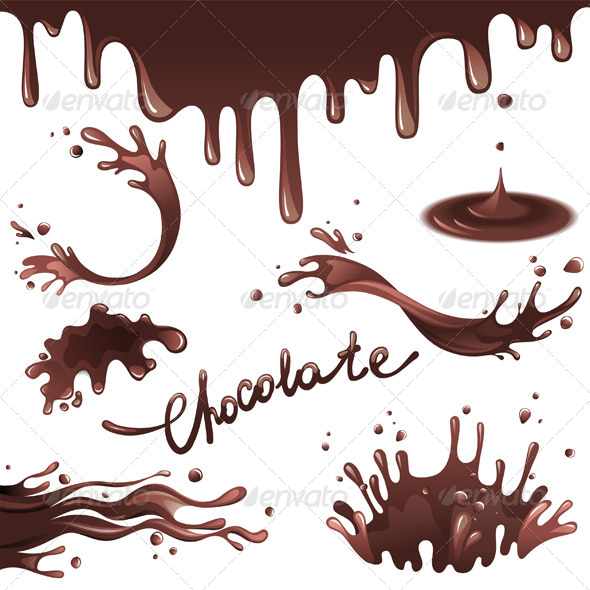 GraphicRiver Chocolate Splashes 6006710