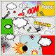 Grunge Retro Comic Speech Bubbles - GraphicRiver Item for Sale