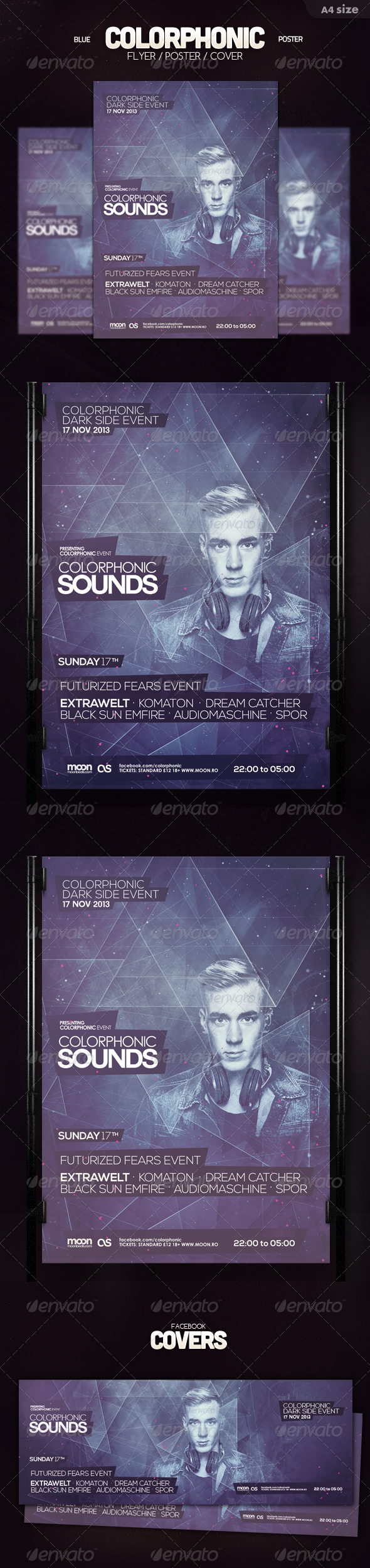 GraphicRiver Blue Colorphonic Flyer 6006885