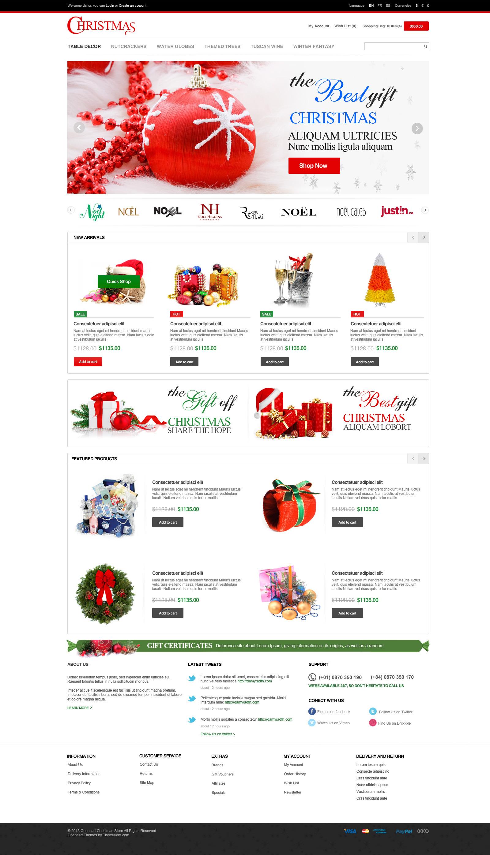 Responsive Merry Christmas OpenCart Theme