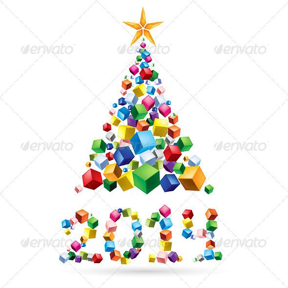 GraphicRiver Abstract Christmas Tree 6007045