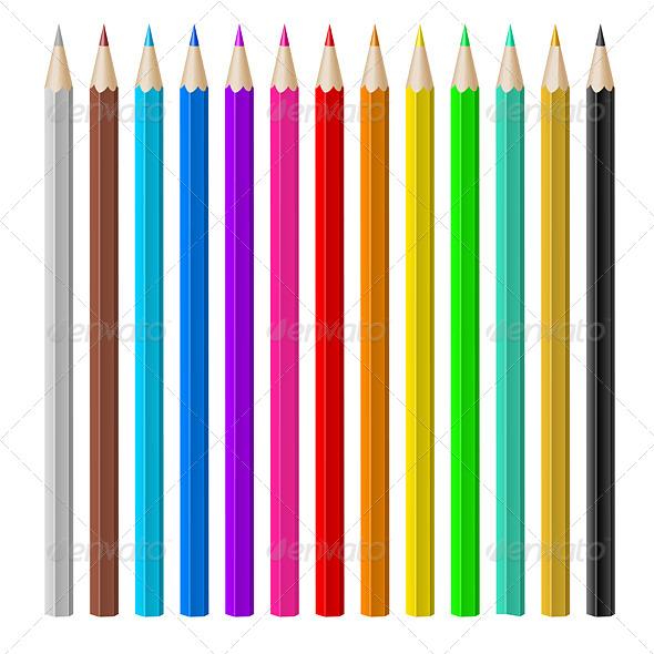 GraphicRiver Color Pencils 6007056