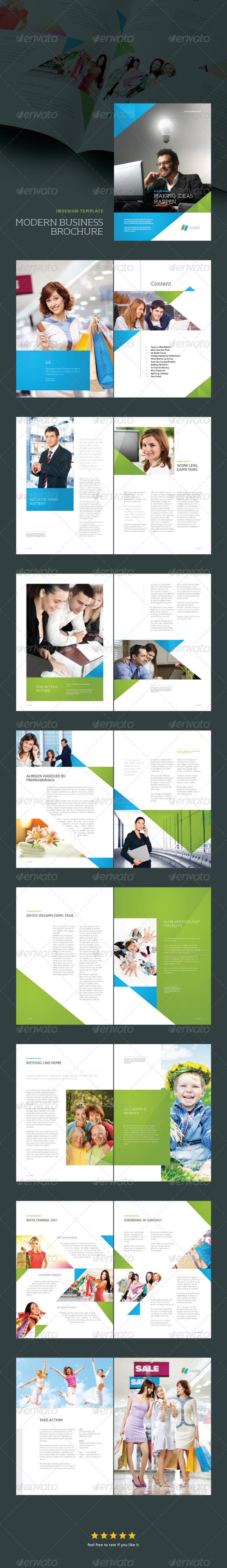 GraphicRiver InDesign Modern Business Brochure Template 6007233