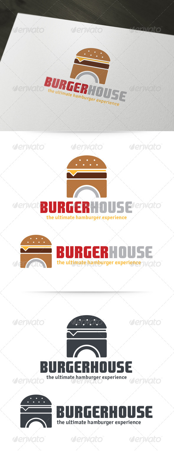 GraphicRiver Burger House Logo 6007266