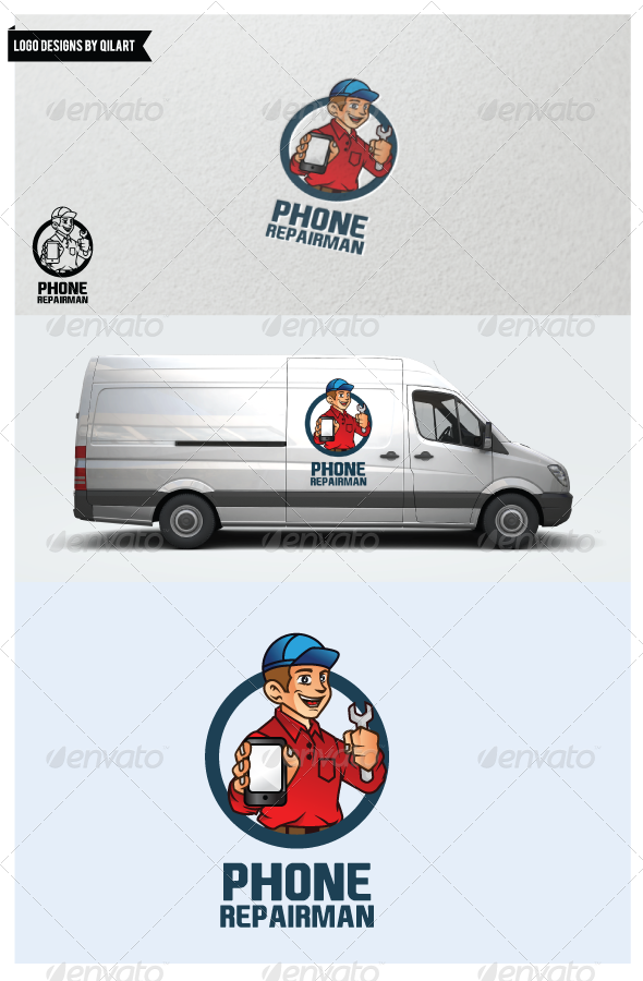 GraphicRiver Phone Repairman 5990234
