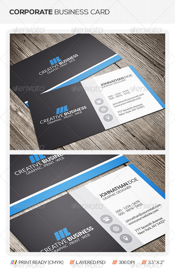 GraphicRiver Corporate Business Card 6007402