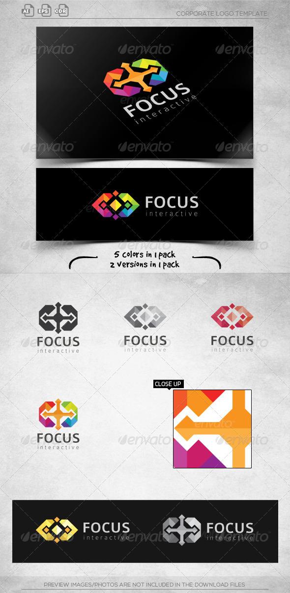 GraphicRiver Cross Focus Logo Template 6007412