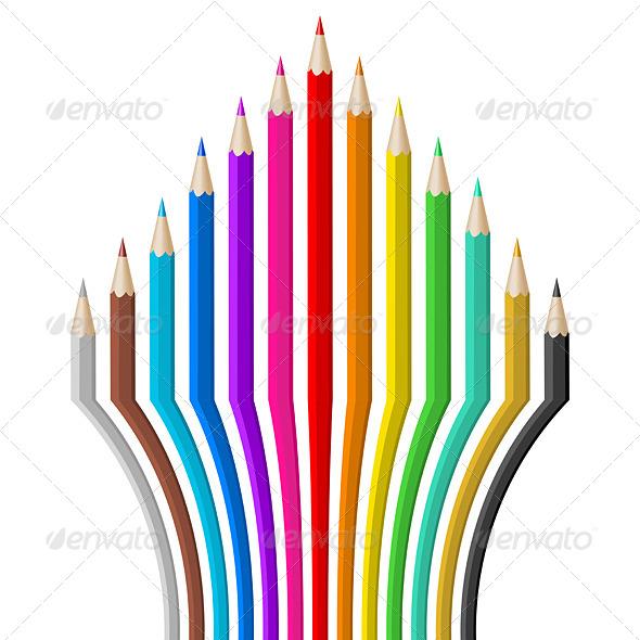 GraphicRiver Color Pencils 6007549
