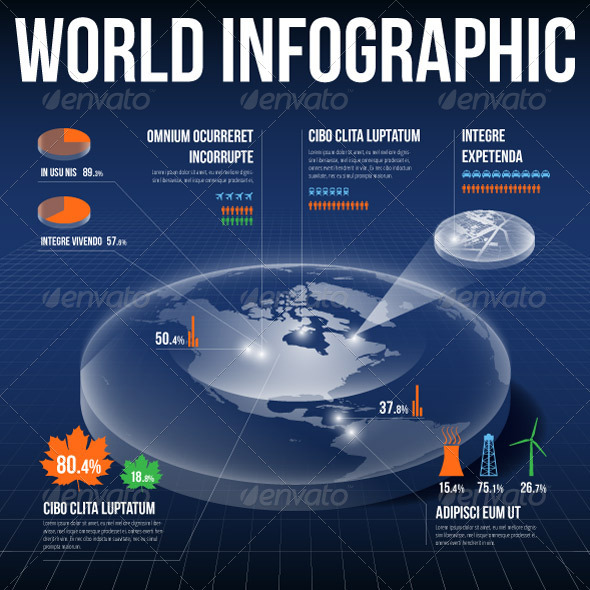 GraphicRiver Vector Globe Infographic 6007677