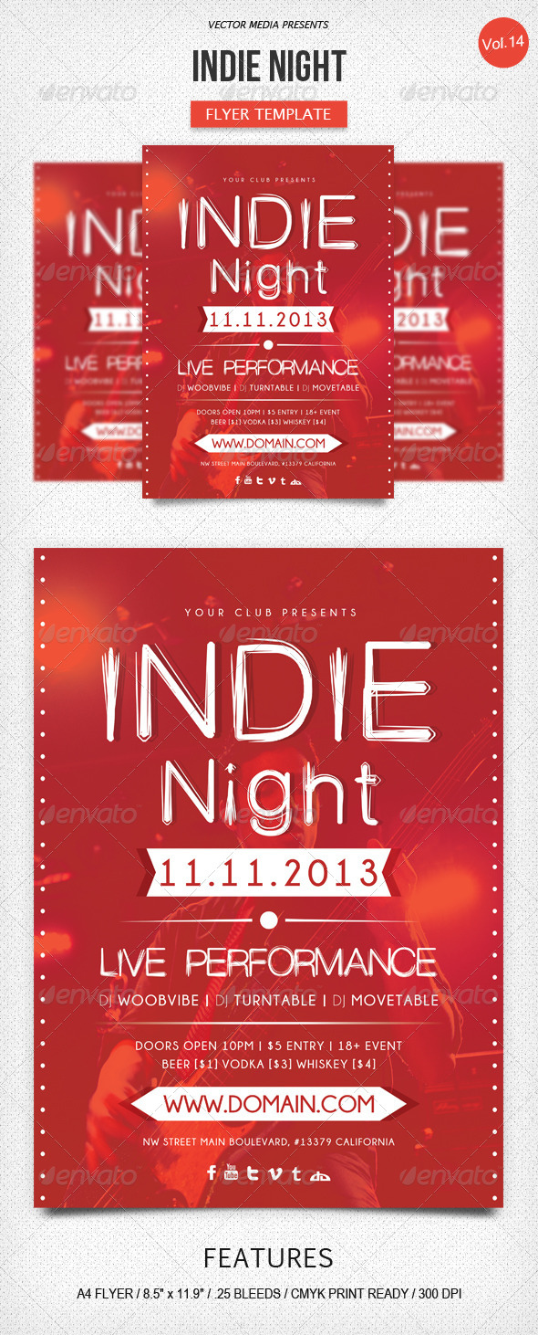 GraphicRiver Indie Night Flyer [Vol.14] 5987701
