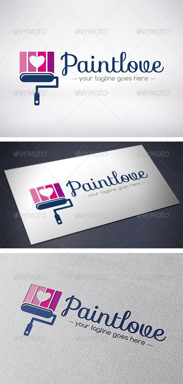 Paint Love Logo - Objects Logo Templates