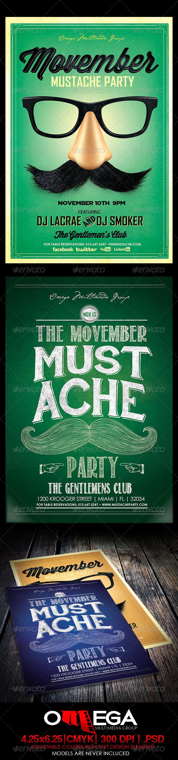 GraphicRiver Movember Bundle 6008877