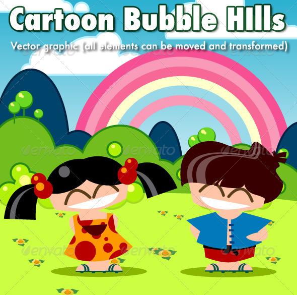 GraphicRiver Cartoon Bubble Hills 6000026