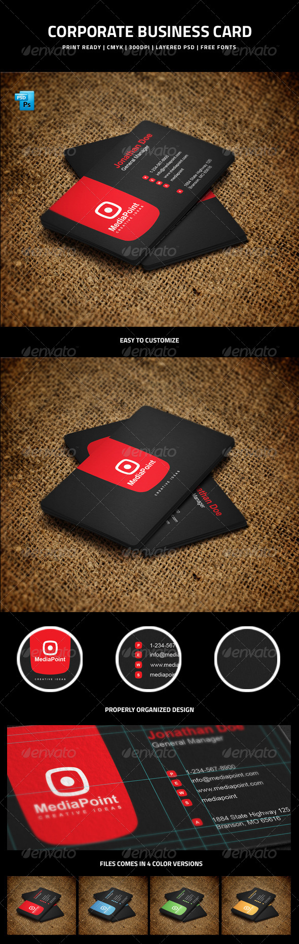 GraphicRiver Corporate Business Card 6008885