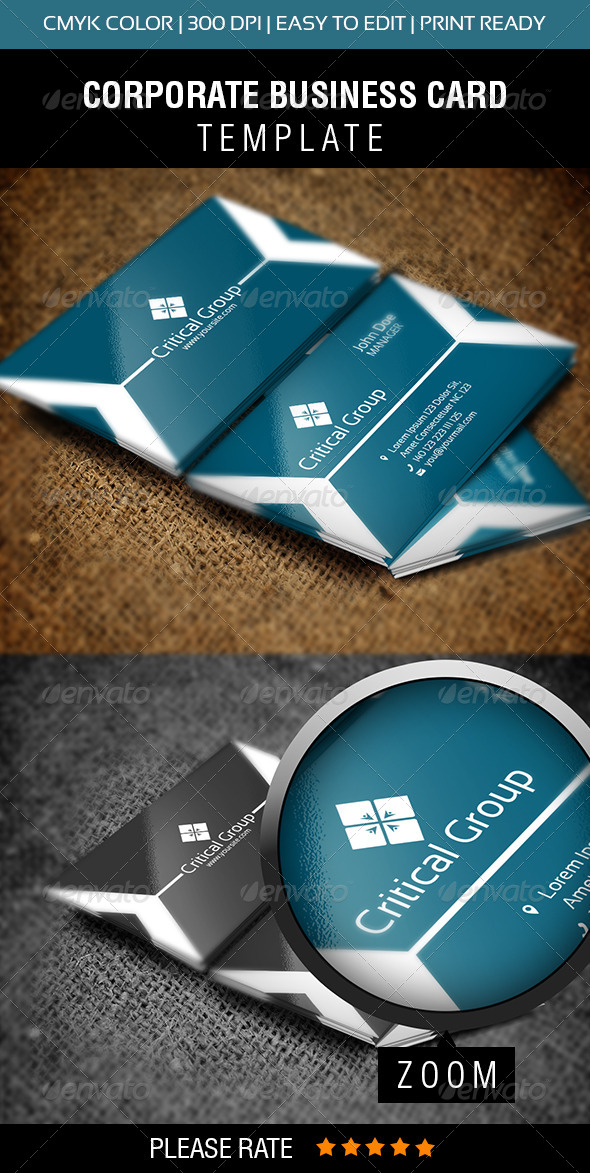 GraphicRiver Critical Group Business Card 6009083