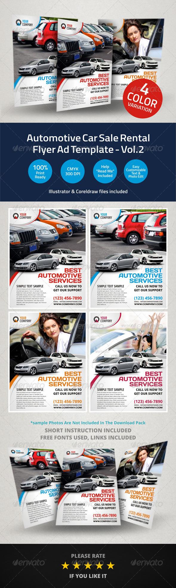 GraphicRiver Automotive Car Sale Rental Flyer Ad v2 6009249