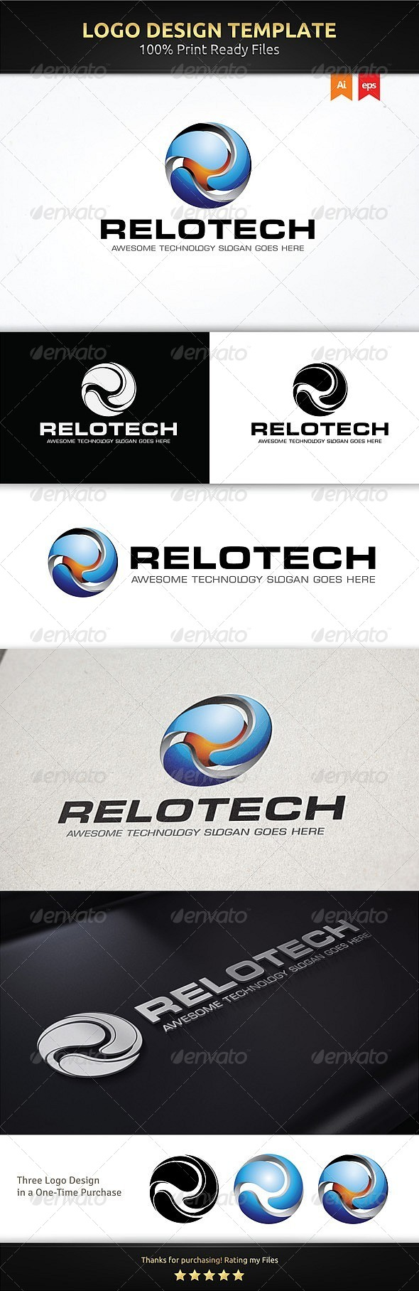 GraphicRiver R Sphere Logo Template 5993997