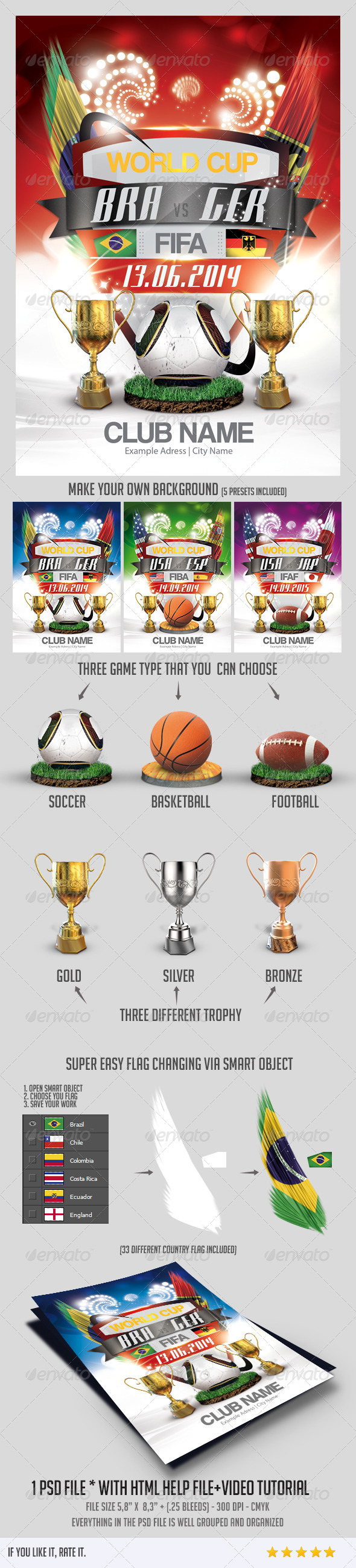 GraphicRiver World Cup 2014 Flyer 5988436