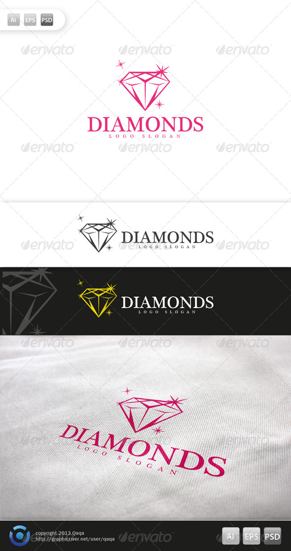 GraphicRiver Diamonds Logo 6009281