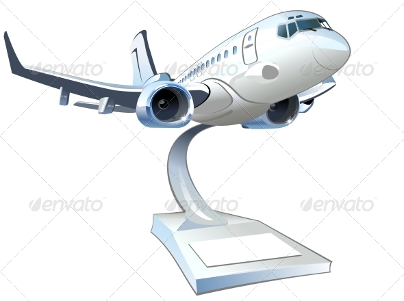 GraphicRiver Vector Cartoon Airliner 6009449