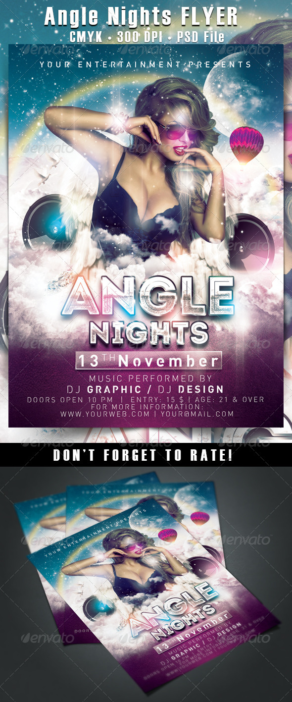 Angle Nights Flyer - Clubs & Parties Events