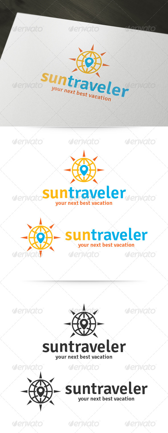 GraphicRiver Sun Traveler Logo 6010373