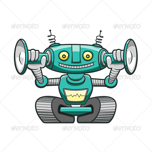 GraphicRiver Green Robot 6010420