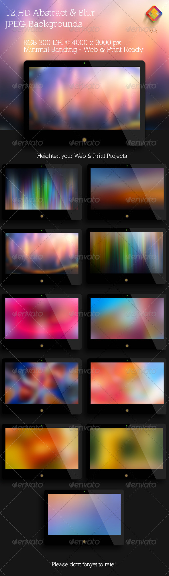 GraphicRiver HD Abstract and Blur Backgrounds V.2 6010419