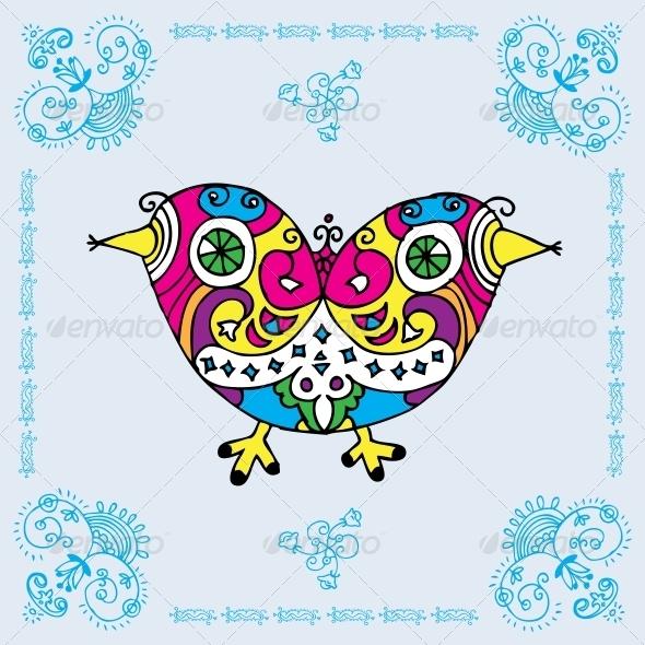 GraphicRiver Love Bird Card 6010521