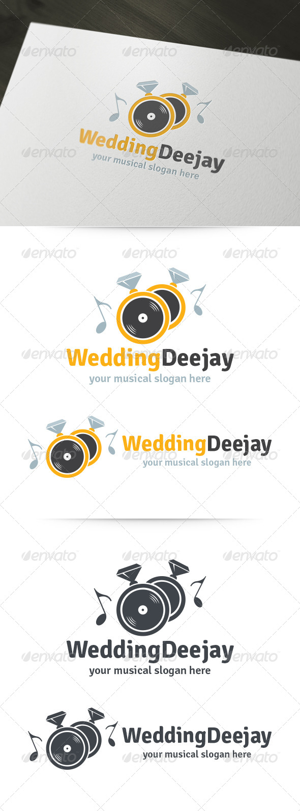 GraphicRiver Wedding Deejay Logo 6010522