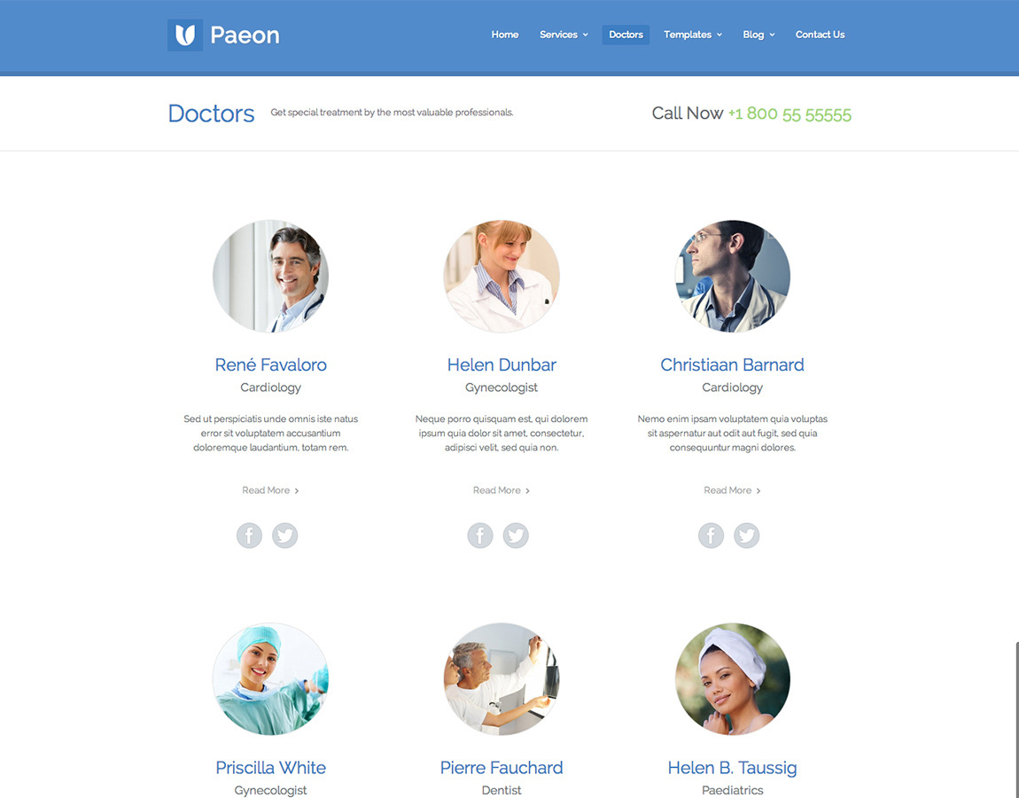 Paeon - Medical WordPress Theme
