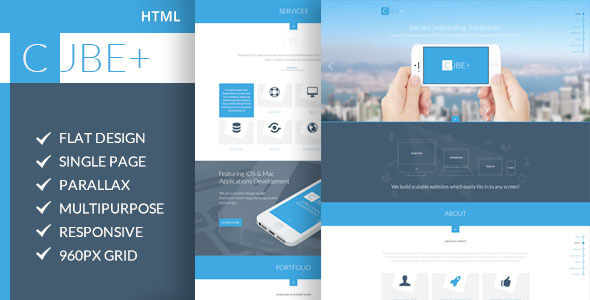 ThemeForest Cube& One-Page Parallax HTML Template 6010672