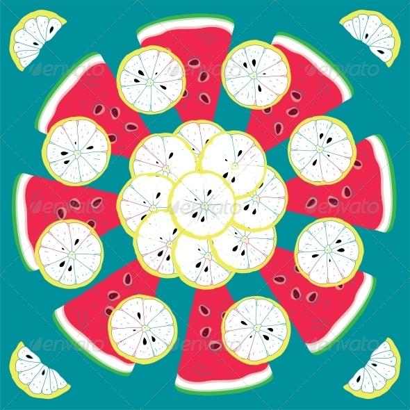 GraphicRiver Seamless Citrus Pattern 6010709
