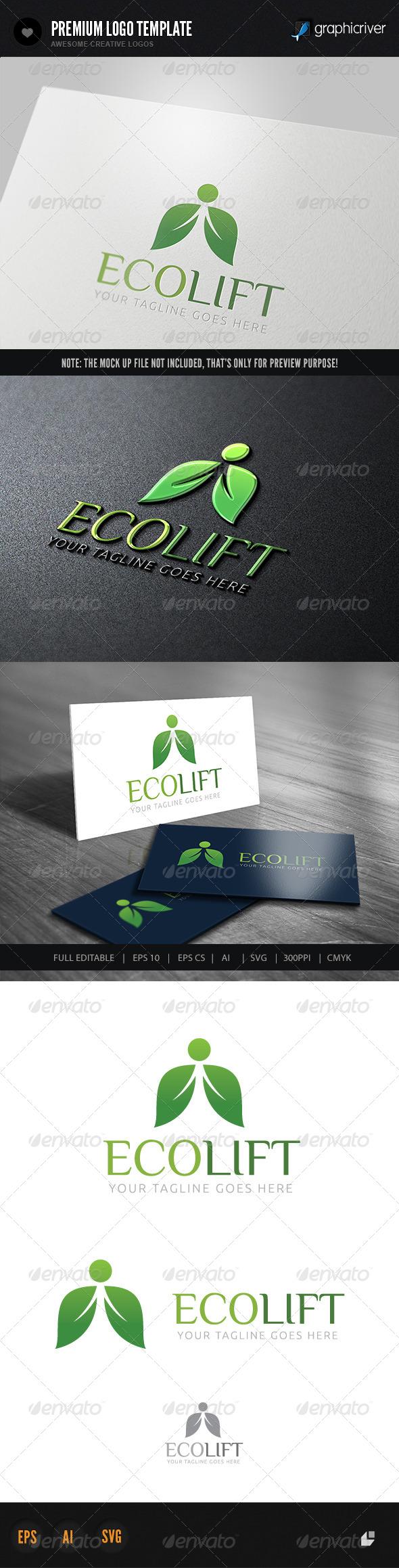 GraphicRiver Eco Lift Logo 5993630