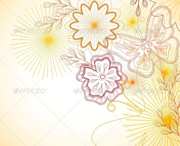 GraphicRiver Hand-Drawn Floral Ornament 6010755