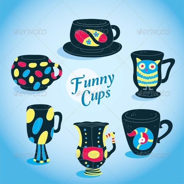 GraphicRiver Vector Cups Collection 6010795