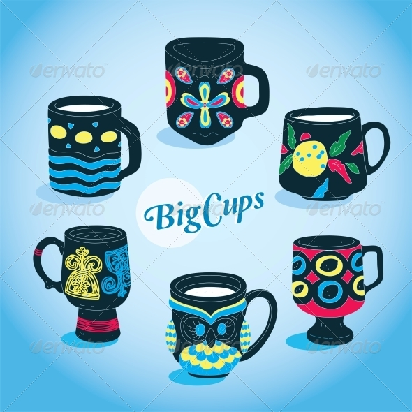 GraphicRiver Vector Cups Collection 6010800