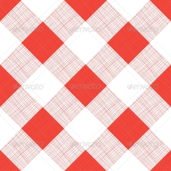 GraphicRiver Vector Seamless Picnic Tablecloth Pattern 6010895