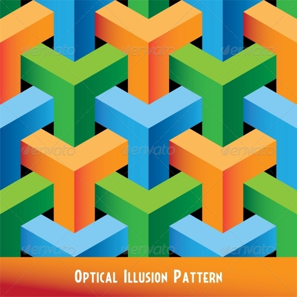 GraphicRiver Abstract Optical Illusion Seamless Pattern 6010899