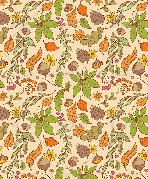 GraphicRiver Autumn Seamless Pattern 6010903