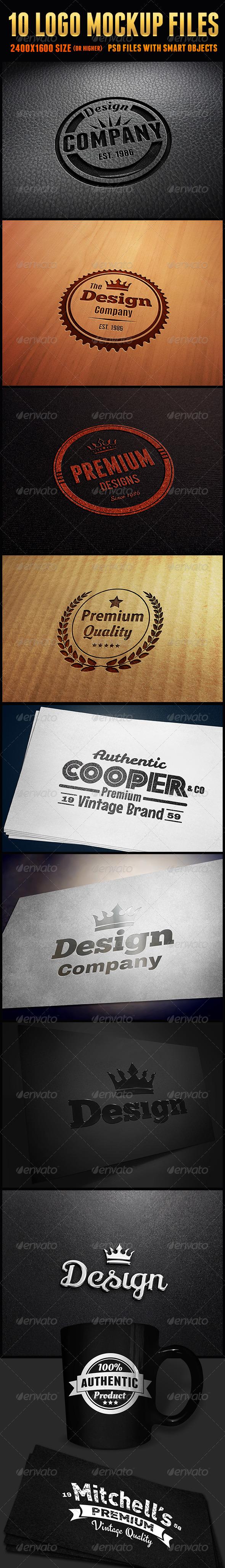 GraphicRiver 10 Logo Mockup Files 5995409