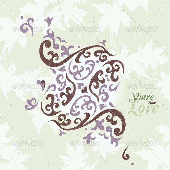 GraphicRiver Love Flowers Elegant Card 6010926