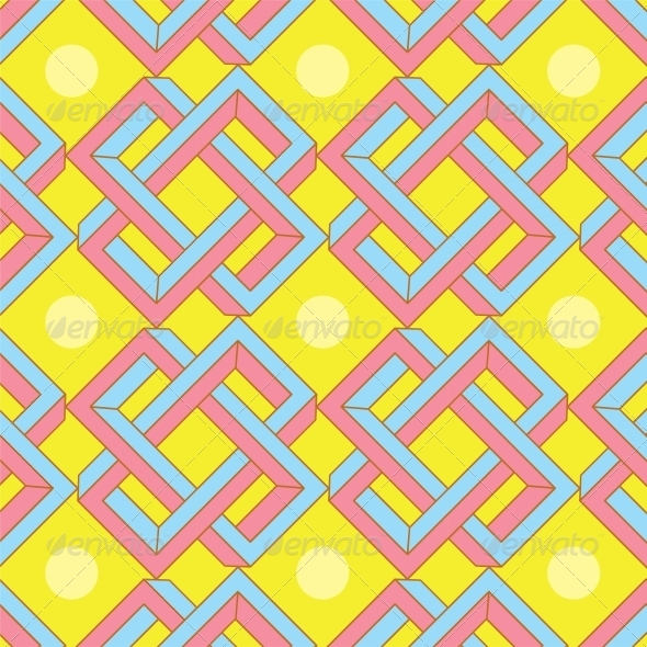 GraphicRiver Abstract Optical Illusion Seamless Pattern 6010987