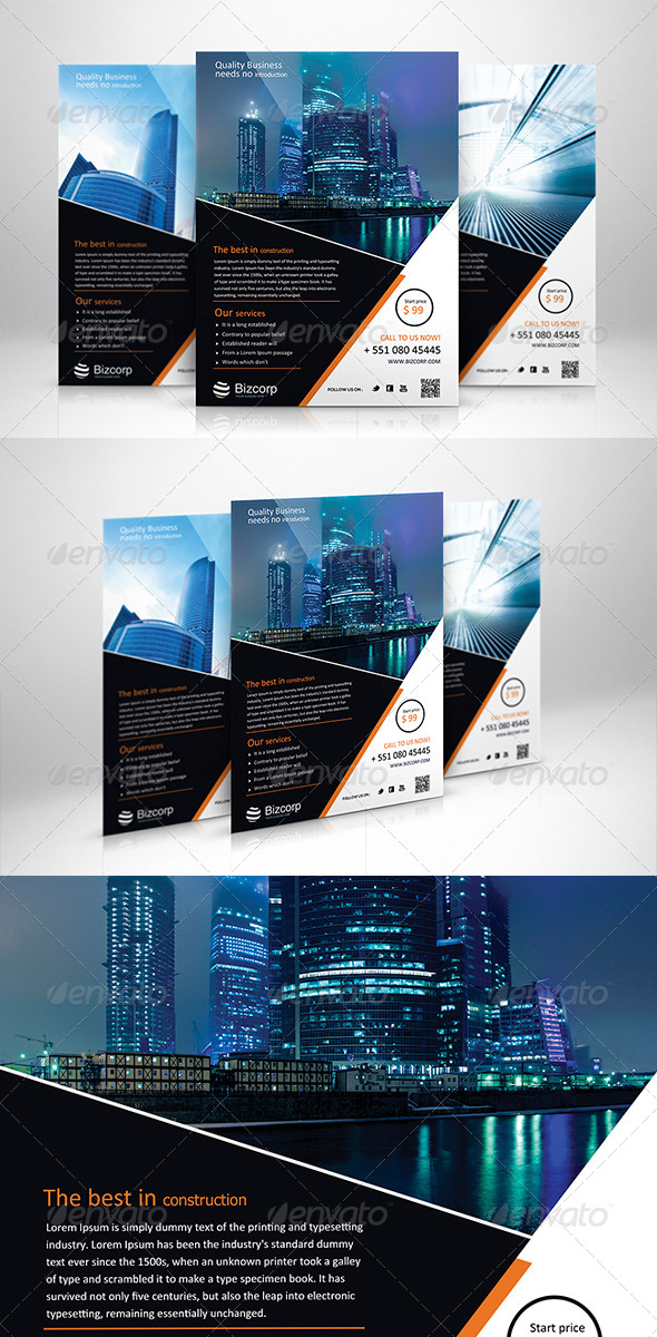 GraphicRiver Corporate Flyer Template 010 6010990